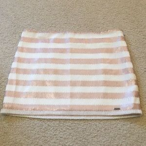 NWOT Abercrombie striped sparkly mini skirt